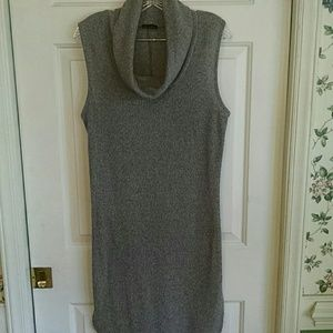 Grey Sleeveless Cowlneck Tunic by Zenobia